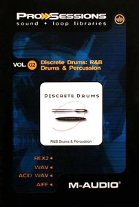 M-Audio ProSessions Vol. 02 — Discrete Drums: R&B Drums and Percussion - Image principale